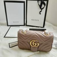 Gucci Marmont matelassé shoulder bag 22 Quality Authentic