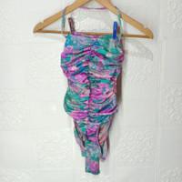 preloved baju renang ungu hijau