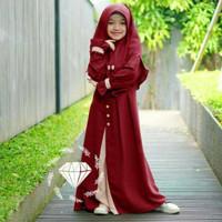 BARU!! Baju Muslim Anak Perempuan Abg Jumbo Umur 8 9 10 11 12 Tahun