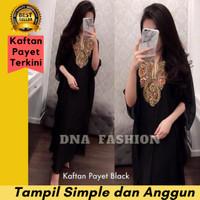 Baju Muslim Wanita Gamis Kaftan Mote Payet Mewah Modern Premium Keong