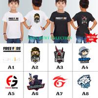 baju kaos anak FREE FIRE LETDA BUDI01 FRONTAL GAMING / KAOS FF PEE
