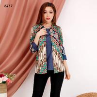 Batik ikat wanita modern / seragam batik kantor / blouse batik kerja