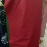 Kain Katun CVC Polos Merah sprei dan Piyama