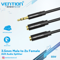 Vention BBS Kabel Aux Audio Splitter 3.5mm Male to 2 Female