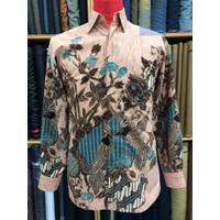 Baju Batik Pria premium bahan Sutra Halus lengan panjang tidak kusut