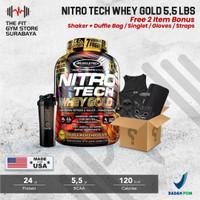 Muscletech Nitrotech Whey Gold 5,5 Lbs Nitro Tech Whey Gold Standard - Coklat