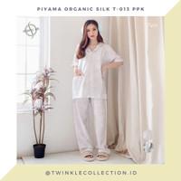 Baju Tidur Piyama GREET Organic Silk T-013 PPK - Putih