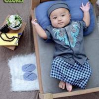 set sarung koko bayi sarkoci newborn baju aqiqah