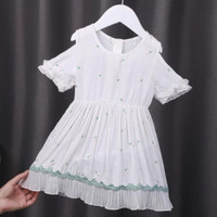 Dress green line / dress sabrina anak / dress anak / baju fashion anak - 1-2 tahun