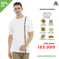 Kaos Oblong Pria Tiento T Shirt Baju Pria Kaos Lengan Pendek Vertical - XXL