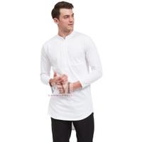 VM Baju Koko Putih Polos Panjang Gamis Kaos Putih
