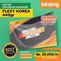 CETAK BANNER SPANDUK FLEXI KOREA 440gr - Flexi Korea
