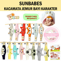 Sunbabes kacamata jemur bayi karakter Sun babes Baby Eyemask eye mask