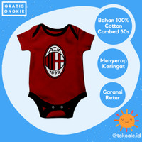 Romper baju jersey bola bayi newborn 0 6 bulan cewek cowok ac milan