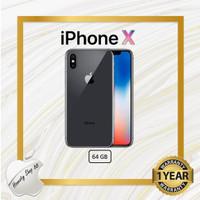 NEW IPHONE X 64 GB BLACK SILVER - Black