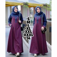 Baju Gamis Wanita Syari Muslim Sabrina Dress Bahan Katun Terbaru