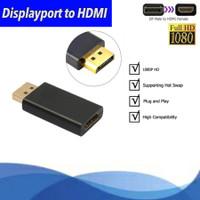 CONVERTER DISPLAY PORT male TO HDMI Port FeMale ADAPTER 4K ke macbook