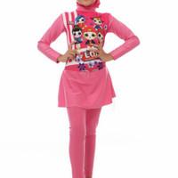 Baju Renang Anak Perempuan Muslimah SD Usia 6 - 12 Tahun Karakter