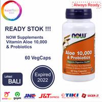 Now Vitamin Aloe 10.000 & Probiotics Probiotik isi 60 Veg Capsules