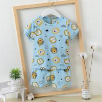 set piyama anak cowok / setelan baju tidur anak cowok / baju import - Small Lion, 80