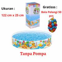 Kolam Renang Anak Intex 58477 Tanpa Pompa Snapset Pool & Bola 50 pcs