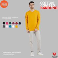 Kaos Polos Lengan Panjang Yellow Mustard Cotton Combed 30s