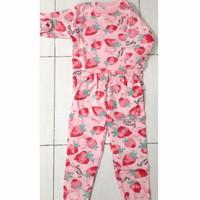 Piyama anak velvet setelan import baju tidur main / model strawberry