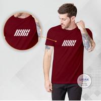 IKON K-POP - Kaos Distro Premium Pria / Kaos Distro Pria Wanita - Marun, S