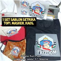 Stiker Kaos Palestina 1 SET untuk Sablon Masker Topi Kaos