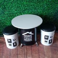 Bangku cafe, kursi cafe, tong kaleng