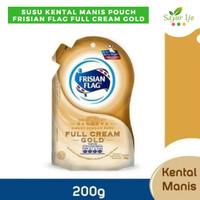 Frisian Flag Full Cream Gold 200 Gram Pouch Susu Kental Manis Premium