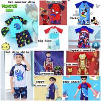 Baju renang anak laki laki boys karakter bahan premium