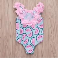 Baju Renang Anak Bayi Import 6 bulan - 3 tahun Bikini Semangka Baby