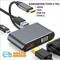 Kabel Converter Adaptor Type C To HDMI to VGA to USB3.0 to Type C