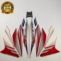 Striping stiker vixion 150 ks nvl 2014 merah putih list body standar