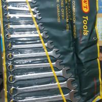 Kunci Ring Pas merk KWT Tools 1 set isi 14 pcs