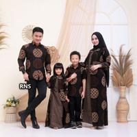 Baju Batik Couple Modern Kekinian / Batik Kapel Set Keluarga Ayah Ibu