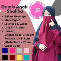 Baju Gamis Anak Shaliha Kids Setelan Jilbab Cadar Kerudung Syari
