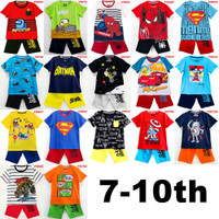 Baju Setelan Pendek Anak Laki Karakter (7-10th)