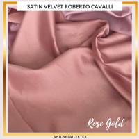 Bahan Kain Satin Velvet Premium Warna Rosegold