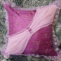 Sarung bantal sofa/kursi shabby chic 45x45