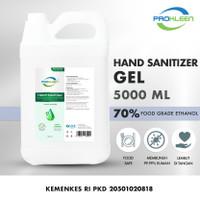 Hand Sanitizer 70% Antiseptic Gel Antiseptik PROKLEEN 5L Berat Sesuai