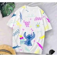 T-Shirt WH LILO XL / BAJU KAOS WANITA XL KOREA OVERSIZE KATUN COMBED