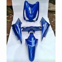 Cover full body halus honda beat karbu biru + striping