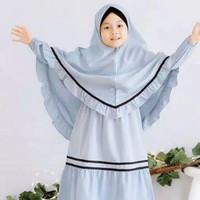 Riana Kids Baju Muslim Gamis Anak Perempuan Usia 5-7 Tahun - Kuning
