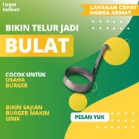 Cetakan Telur Burger Bulat / Alat Burger