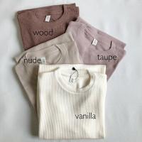 outfit wanita longsleeve Rib basic sweater premium baju lengan panjang