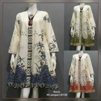 Baju Atasan Jumbo - Tunik XXL - Baju Batik Wanita - Baju Kantor