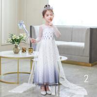 Baju Pesta Anak Perempuan Ulang Tahun Kostum Princess Elsa Frozen 2
