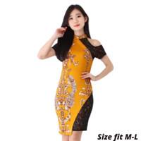 DRESS BAJU ATASAN BATIK KERJA KANTOR WANITA CEWEK MODERN MURAH 0126
